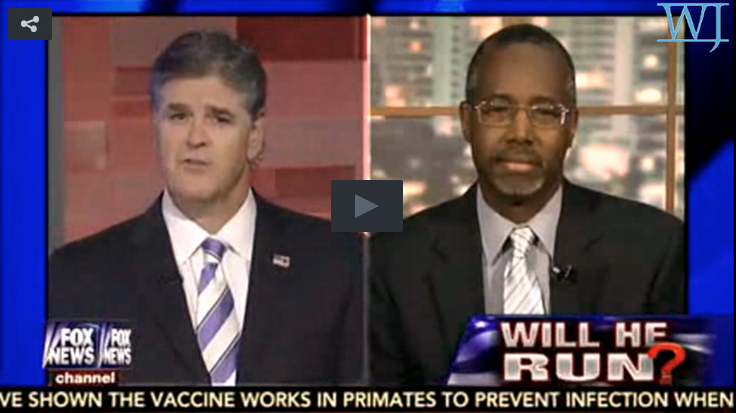 Ben Carson and Sean Hannity