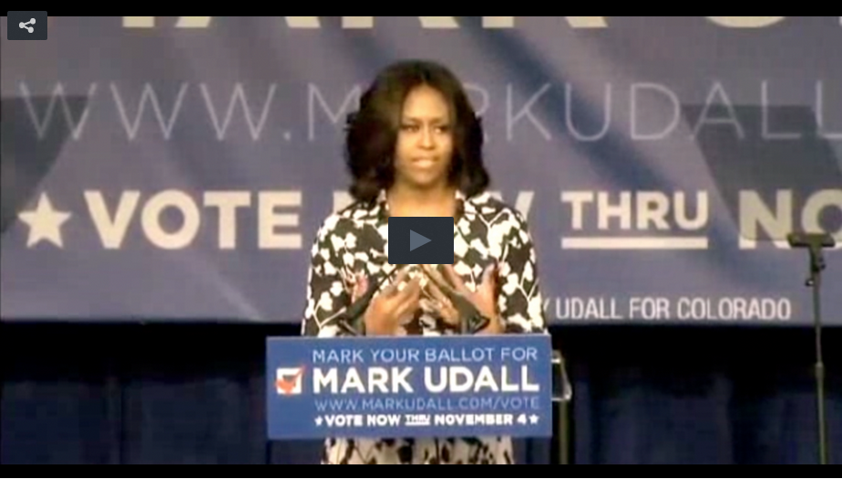 Watch: Michelle Proves She Knows Almost Nothing About The Guy She Supports In One Sentence