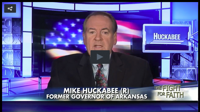 Huckabee Supports Houston Pastors In Light Of Mayor's Illegal Campaign