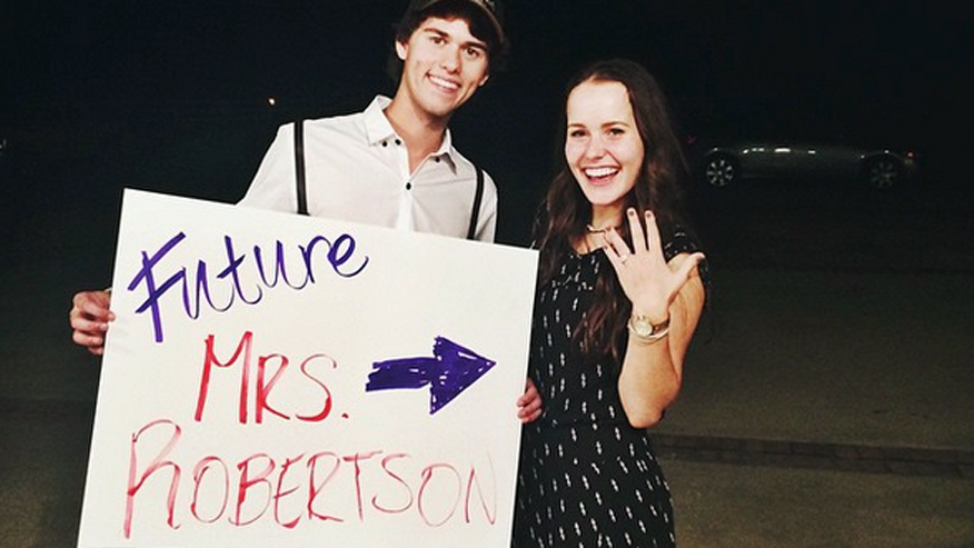 """Duck Dynasty's"" John Luke Robertson and his fiancee Mary Kate McEacharn."