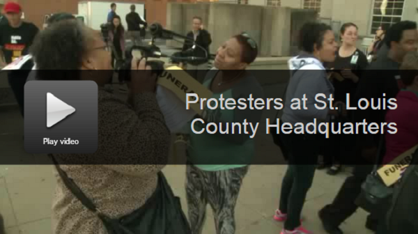 Protesters Storm St. Louis County Police Building