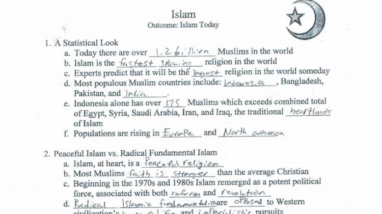 Islam Worksheet