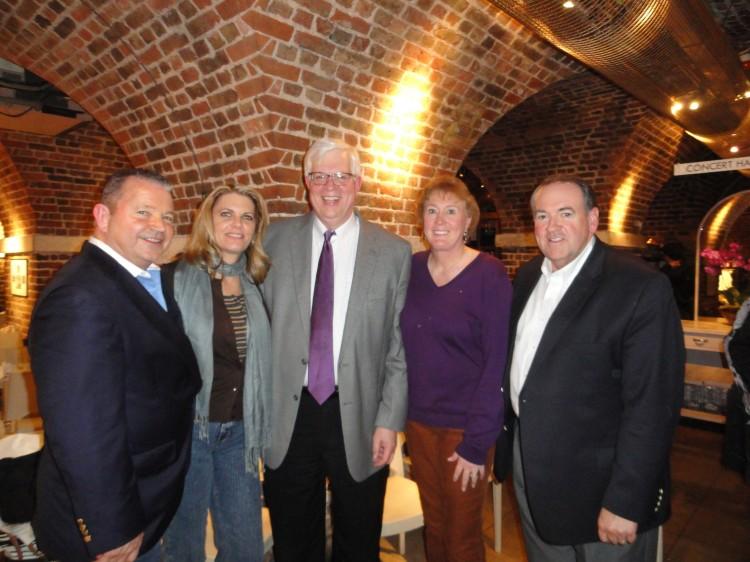 David Lane of American Renewal, Susan Reed (Dennis Prager's wife), Dennis Prager, Mrs. and Gov. Mike Huckabee