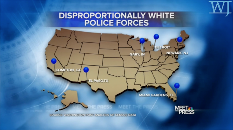 US Map of White officers