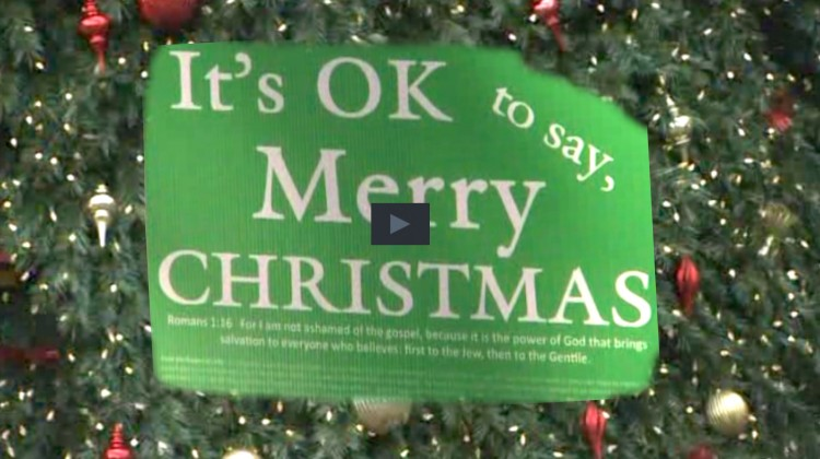 It's OK to Say Merry Christmas