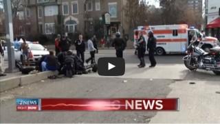 cop hit by car