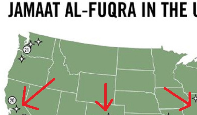 Islamic Terrorist Camps Located In US - Terrorist training camps in us map