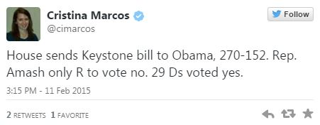 02112015_Keystone Cristina Marcos Amash Votes No_Twitter