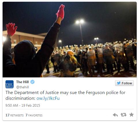 02192015_The Hill Ferguson Tweet_Twitter
