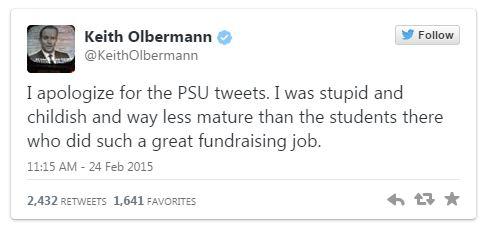 02252015_Keith Olbermann Apology Tweet_Twitter
