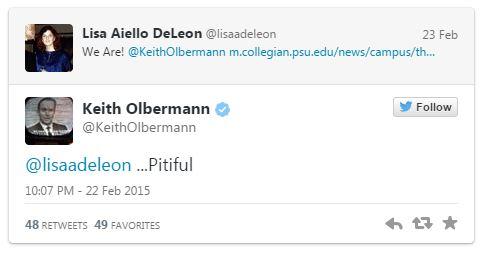 02252015_Keith Olbermann Lisa Tweet_Twitter