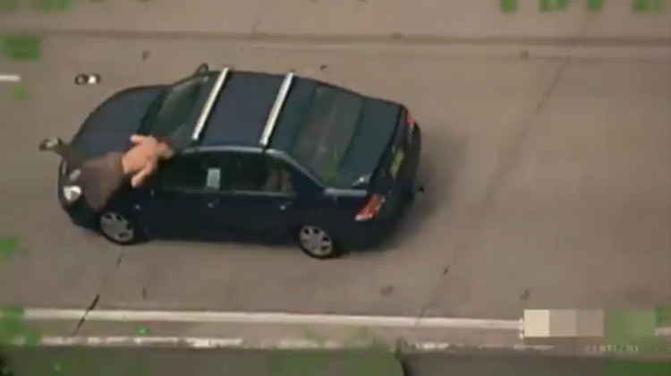 Australian getting hit by car