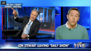 Jon Stewart and Greg Gutfeld