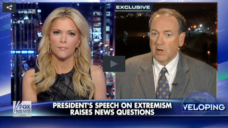 Mike Huckabee and Megyn Kelly