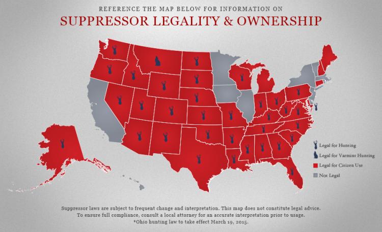 03192015_Silencer Map_American Suppressor Association