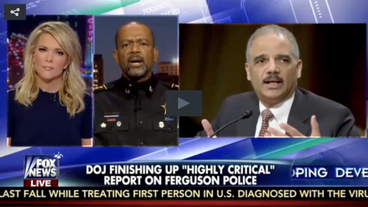 Eric Holder, Megyn Kelly and sheriff Clarke