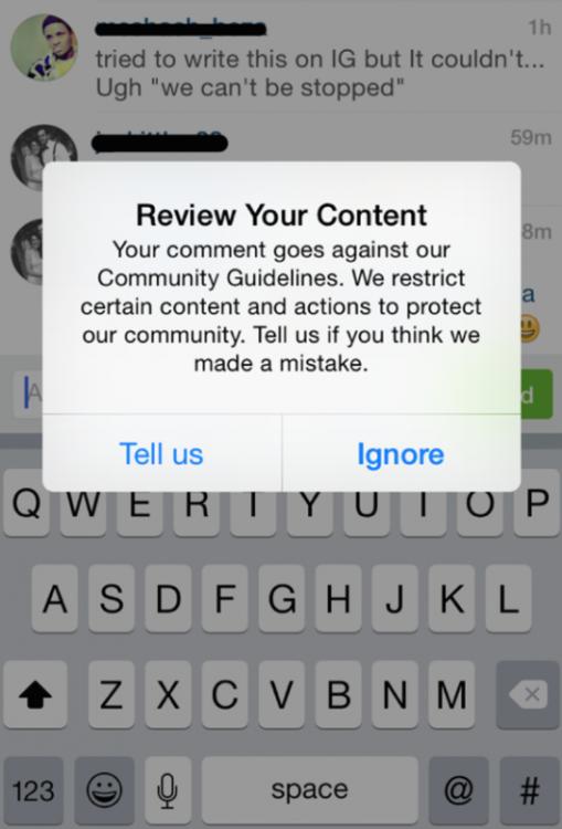 Instagram Error Message