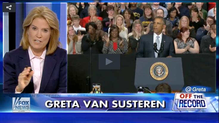 Greta Van Susteren and Obama