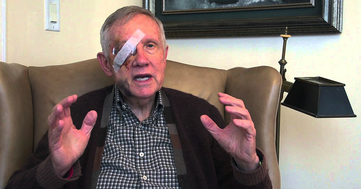 """BUSTED: Harry Reid Is Lying About His """"Exercise Accident"""". And Here is the PROOF!"""