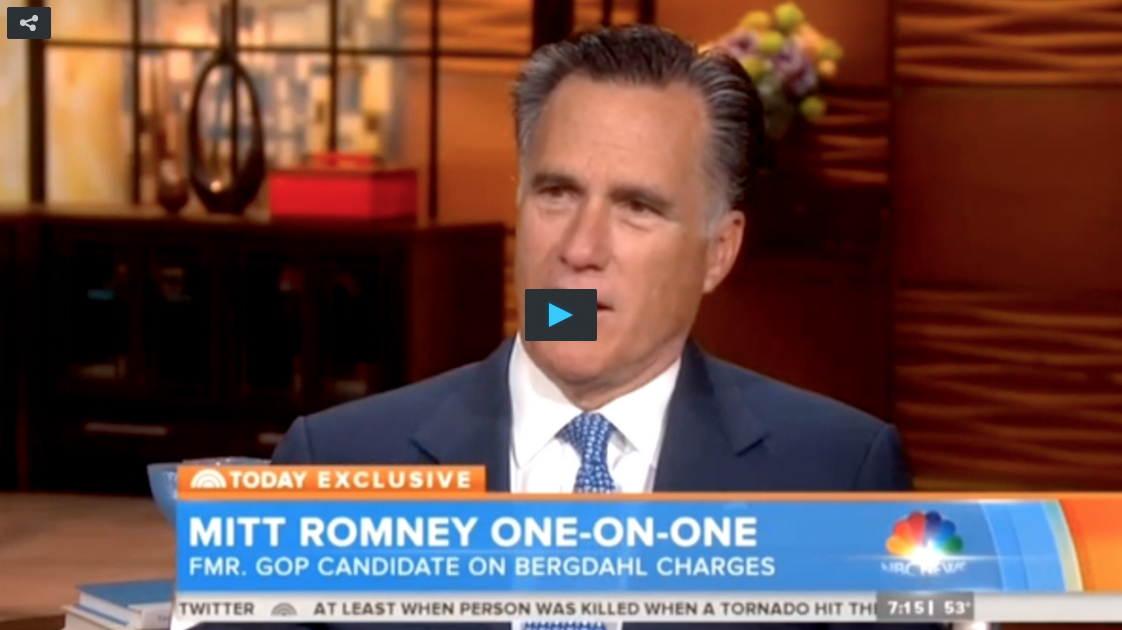 Mitt Romney Tells NBC What He Would Have Done With The Bergdahl Swap If He Were President