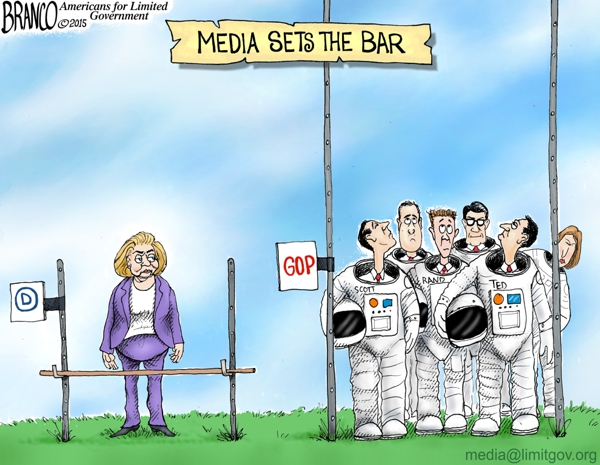 The Massive Difference In How The Media Treats Dems And Repubs In One Cartoon