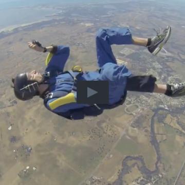 Sky diving seizure