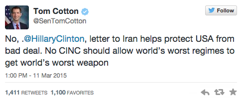 Twitter/ Tom Cotton