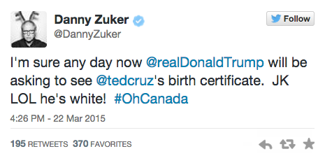 Twitter/ Danny Zuker