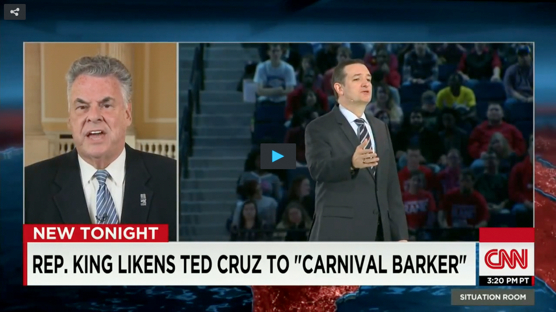 Ted Cruz, Peter King