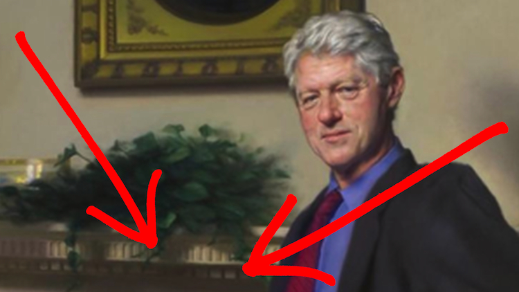 Revealed The Hidden Image In Bill Clintons Portrait That Infuriates The Clintons