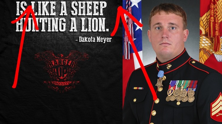 WCJ images Dakota Meyer Tshirt