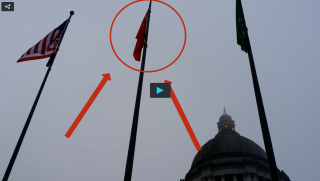Communist Flag Flying