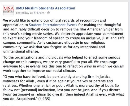 Image Credit: Facebook/UMD Muslim Students Association