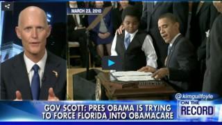 Rick Scott, Obama