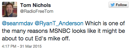 Twitter/ Tom Nichols