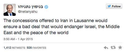 Twitter/ Netanyahu