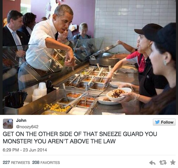 Twitter Obama Chipotle