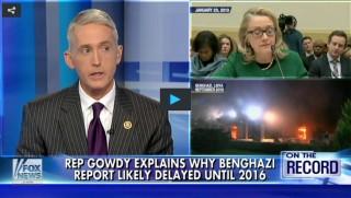 Trey Gowdy, Hillary Clinton, Benghazi