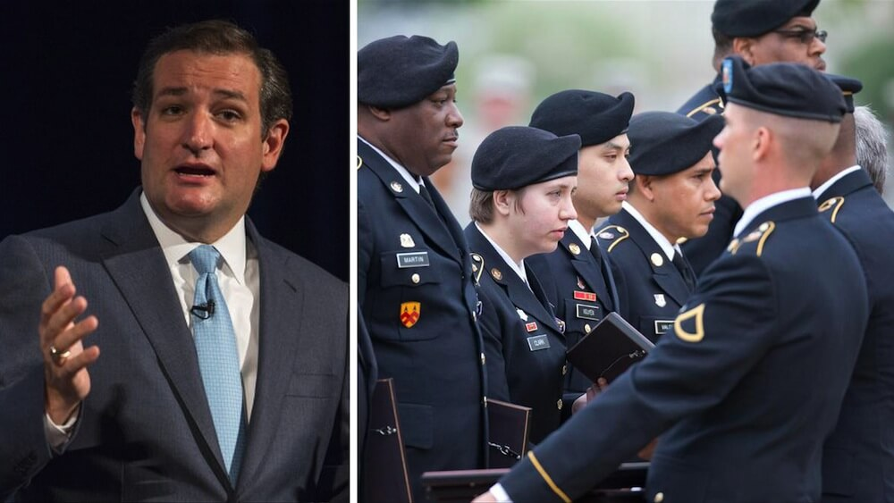 Outraged Ted Cruz Vowed an Unrelenting Fight, and Now the Army Has Just Done a BIG About-Face