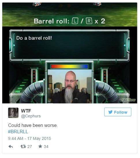 05182015_Barrel Roll Tweet_Twitter