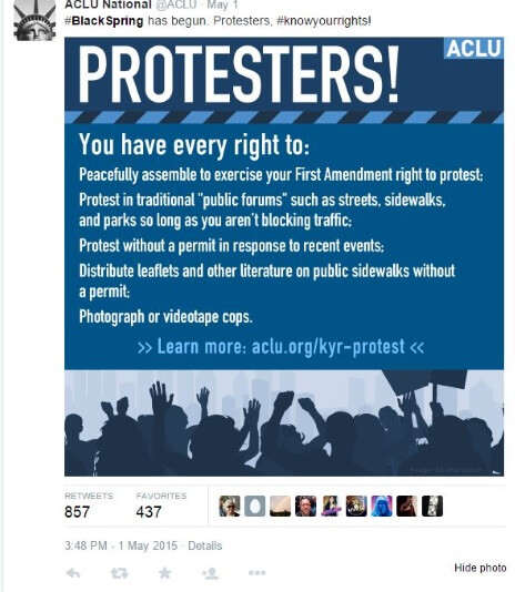 ACLU Black Spring