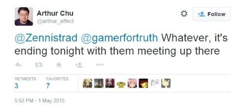 Gamergate Tweet - Chu - It ends tonight