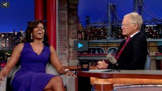 Michelle Obama, David Letterman