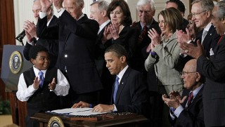 Obamacare signed by Obama