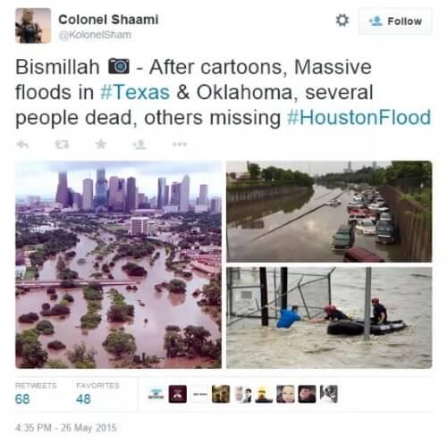 Tweet - Flooding ISIS