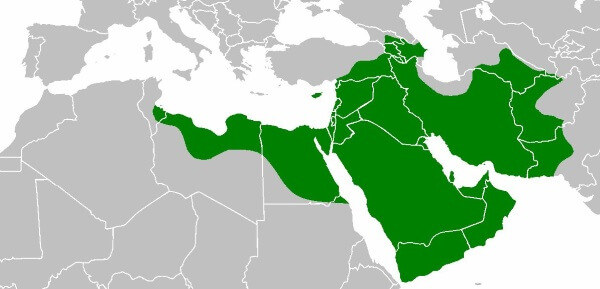 Image Credit: Wikipedia - Islamic Empire during Uthman's reign - circa 644 A.D.