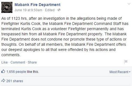 Facebook - Mabank Fire Department