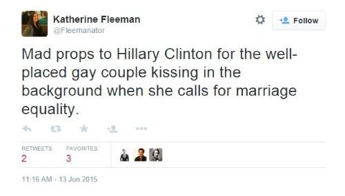 Hillary Clinton Tweet Gay Marriage II