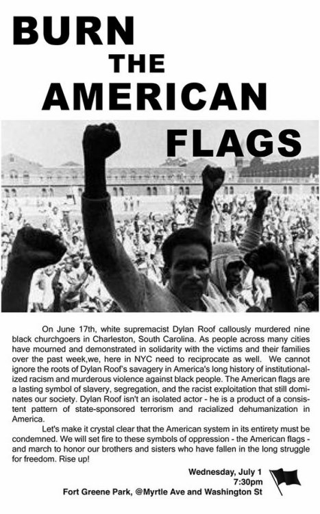 Image Credit: Facebook/Burn the American Flags