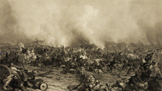 """""""The Battle of Gettysburg"""" by John Sartain. Image Credit: Library of Congress"""